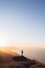 Coucher de soleil sur le pays basque