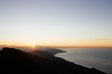 Coucher de soleil au pays basque