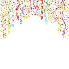 Streamer & Confetti Bow Background Color