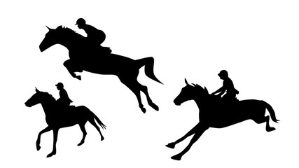 Horses Jumps Silhouette