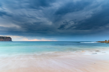 Tranquil and Stormy Seascape