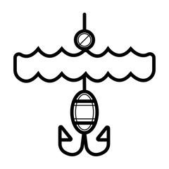 Fishing icon vector