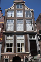Ancient buildings in the city center of Dordrecht, which was one of the important cities in the Netherlands during the golden age