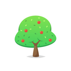 Apple tree vector isolated illustration