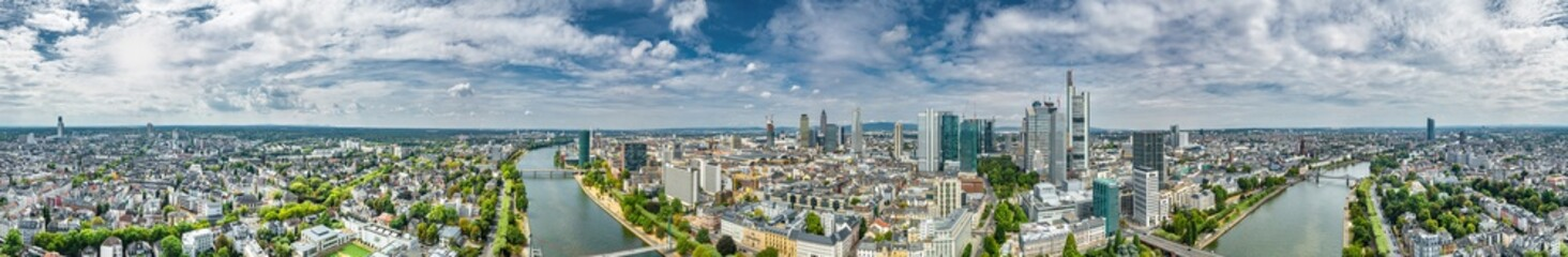 360° Luftbildpanorama Frankfurt am Main