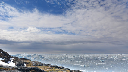 Poster Arctic Disco Bay. Greenland