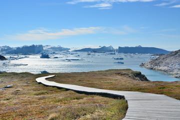 Poster Arctic Ilulissat Icefjord. Greenland. World Heritage
