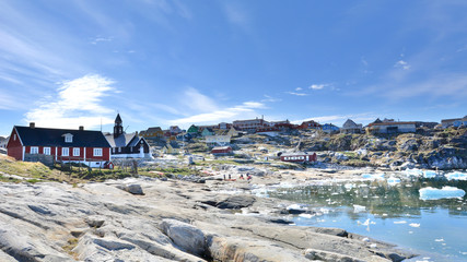 Greenland. Town of Ilulissat