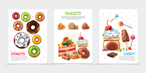 Cartoon Sweets Posters