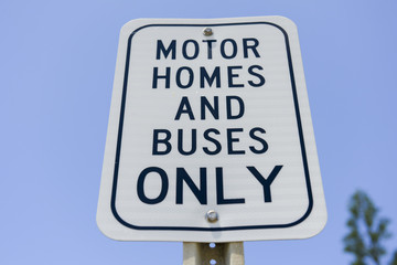 Motor homes and buses only sign Wall mural