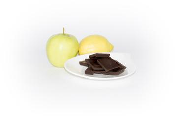 régime pomme citron chocolat