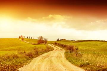 Autumn background of Tuscany