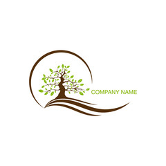 Tree logo vector design element for company