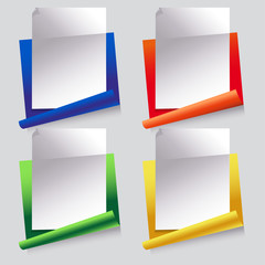 paper, set of icons