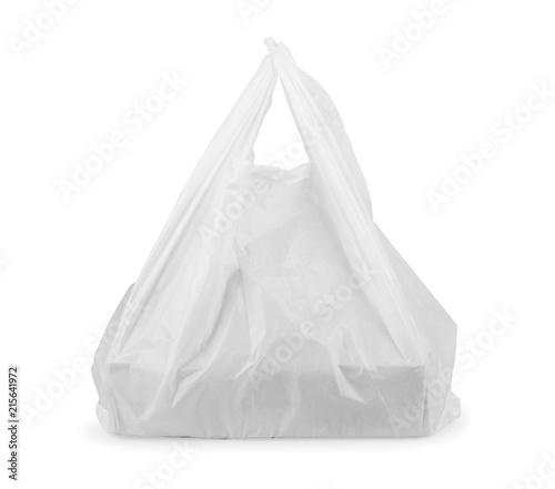 White plastic bag with pizza box  sc 1 st  Fotolia : pizza box tent - afamca.org