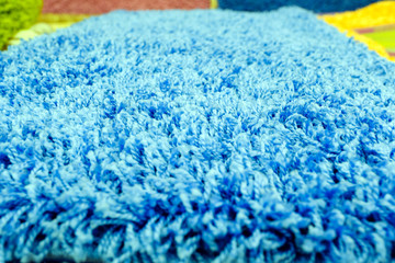 Quality carpet in macro top view with one fiber is distinguishable