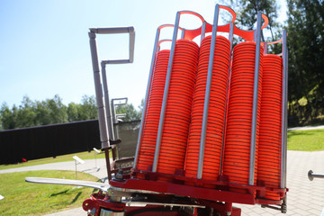 Machine for launching clay pigeon for sport shooting