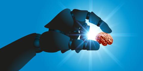 robot - cerveau - intelligence artificielle - cyborg - intelligence - concept - androïde - avenir - futur