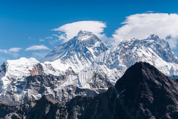 Mount Everest, the highest point of the world from Gokyo Ri, Sagarmatha national park, Nepal