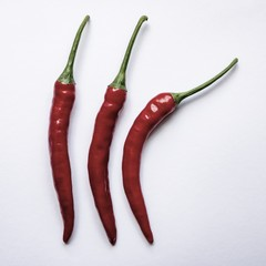 Ripe red chili peppers