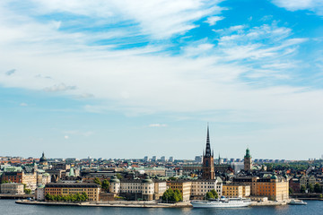 View of Gamla Stan (Old Town) from Södermalm district in Stockholm, Sweden.