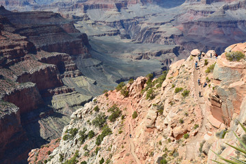 South Kaibab trail into the Grand Canyon
