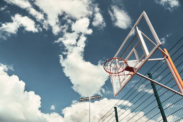 Basketball outdoors.