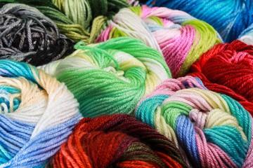 Closeup of Wool Yarn