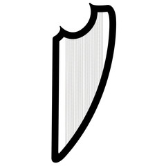 Isolated harp musical instrument icon
