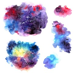 Hand drawn watercolor illustration space.