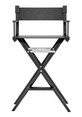 black director`s chair isolated on white background