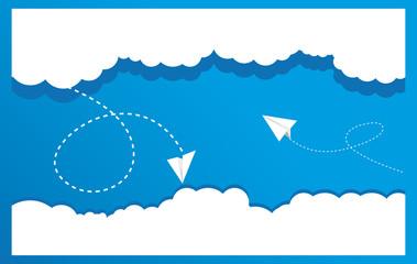 Chmury i samoloty - Print