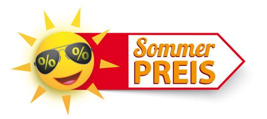 Sommerpreis Sonne mit Sonnenbrille