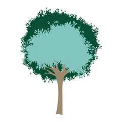 tree painted watercolor style vector illustration design