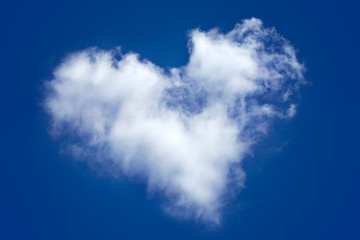 A cloud in the form of heart in the sky.