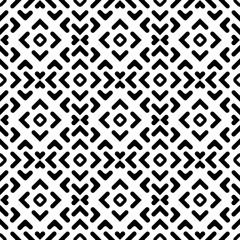 Seamless background for your designs. Modern black and white ornament. Geometric abstract pattern
