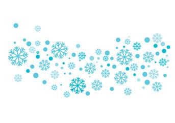Snowflakes Style Design illustration