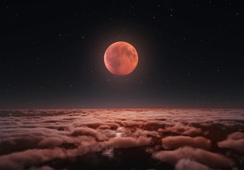 Longest total Lunar eclipse, blood moon 2018.