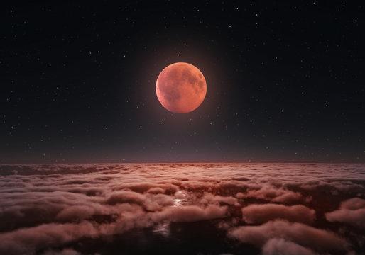 Longest total Lunar eclipse, blood moon 2018.