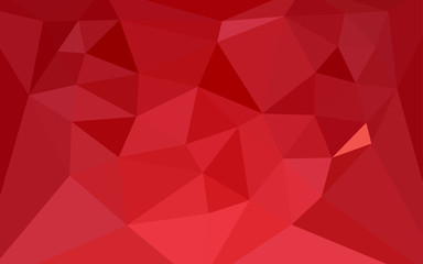 Light Red vector abstract mosaic pattern with a heart in a centre.