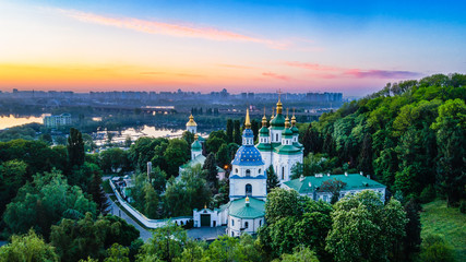 Vydubetsky monastery from the height