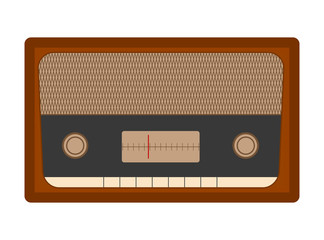 Radio - flat vector graphic with transparent background