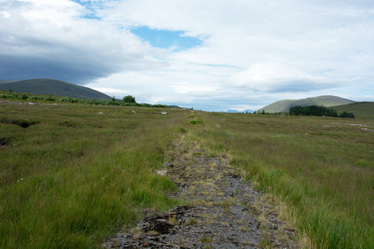 Looking westwards on the only stretch of road which isn't normally submerged by Loch Glascarnoch