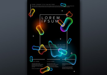 Poster Layout with Glowing Abstract Elements