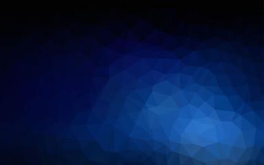 Dark BLUE vector polygon abstract backdrop.