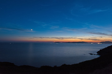 starry sky over Capo Caccia