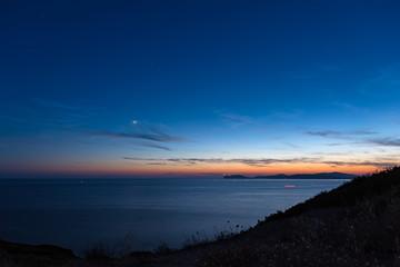 starry sky over Alghero coastline