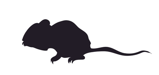 mouse silhouette, vector