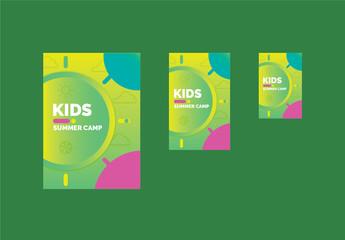 Kids Summer Camp Notebook Layout