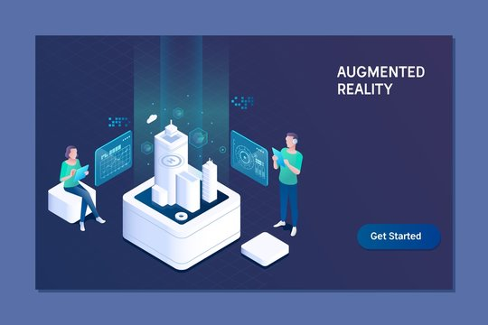 Augmented reality concept. Business, augmented reality and future technology concept